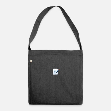 Note Clue notes - Shoulder Bag made from recycled material