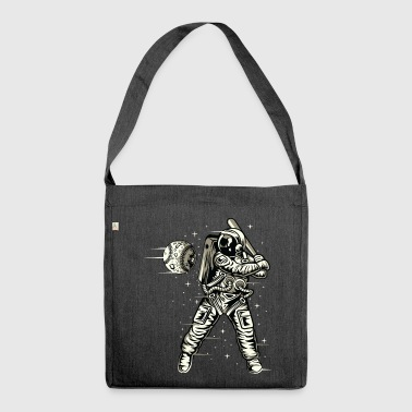 Space Baseball Astronaut Space ketcher - Skuldertaske af recycling-material