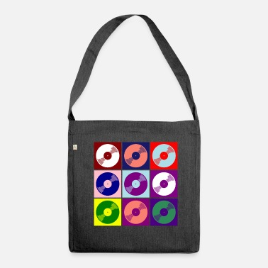 Vinyl vinyl - Shoulder Bag made from recycled material