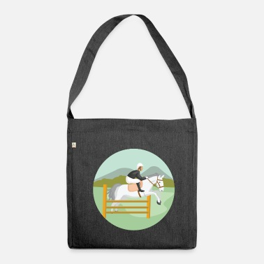 Show Jumping Show jumping horse - Shoulder Bag made from recycled material