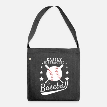 Batting Helmet Baseball Baseball Bat Baseball Helmet - Shoulder Bag recycled
