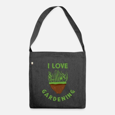 Gardener Gardener hobby gardener garden gardening - Shoulder Bag made from recycled material