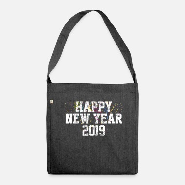 New Year New year new year - Shoulder Bag made from recycled material