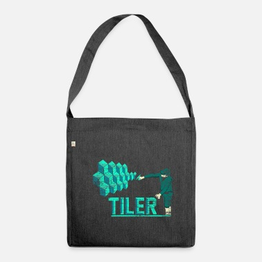 Bricklayer Tiler bricklayer gift - Shoulder Bag made from recycled material