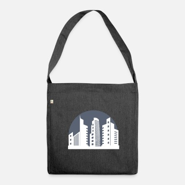 Metropolis City city skyscraper metropolis - Shoulder Bag recycled