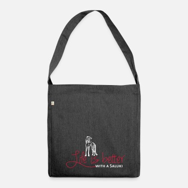 Life is better - Saluki - Shoulder Bag made from recycled material