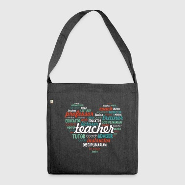 Teacher T-shirt Word Art - Borsa in materiale riciclato