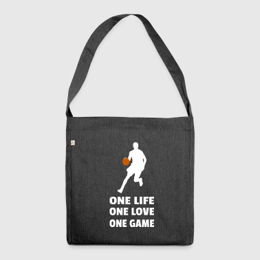 Basketball Baller B-Ball Dunk Matchday Gift - Shoulder Bag made from recycled material