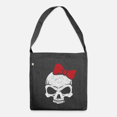 Heavy Metal heavy metal girl - Shoulder Bag made from recycled material