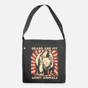 Animal Rights Activists Bears animal rights activists - Shoulder Bag made from recycled material