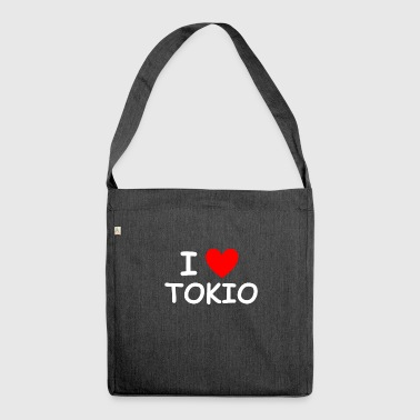 I love Tokyo - Shoulder Bag made from recycled material