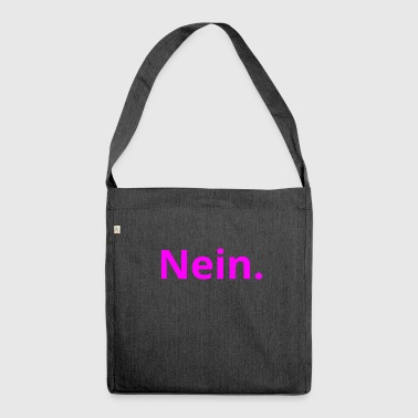 No. Statement witty simple gift idea - Shoulder Bag made from recycled material