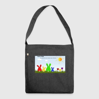 Ostern - Schultertasche aus Recycling-Material