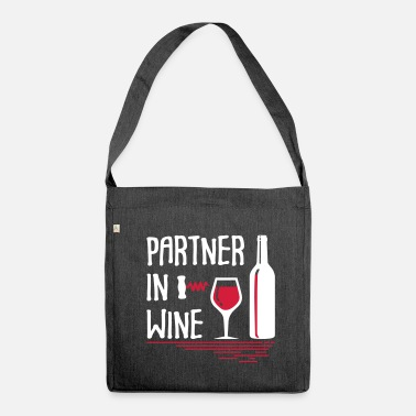 Partner Partner in Wine - Shoulder Bag made from recycled material