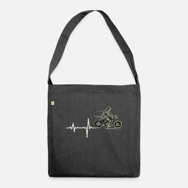 Motocross Regalo Heartbeat moto - Borsa in materiale riciclato