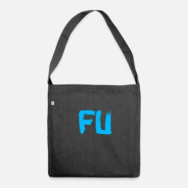 Fuck You blu FU - Borsa in materiale riciclato