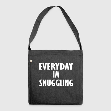 every day am snuggling - Shoulder Bag made from recycled material