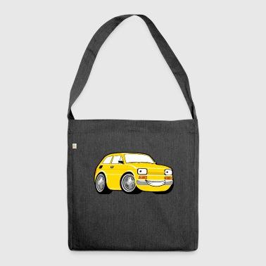 Racing car toddler yellow - Shoulder Bag made from recycled material