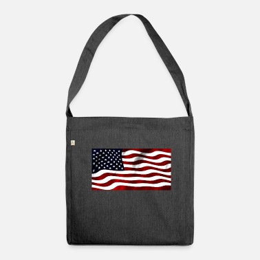 Us US Flagge - Schultertasche aus Recycling-Material
