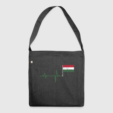 Heartbeat Hungary flag gift - Shoulder Bag made from recycled material
