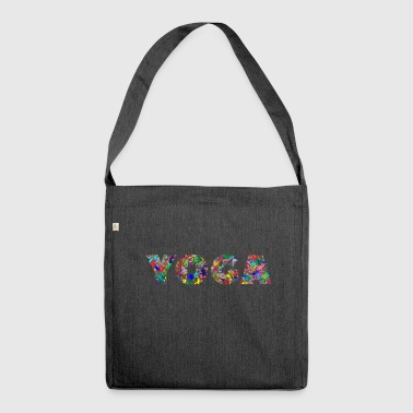 Blumiges Yoga - Schultertasche aus Recycling-Material