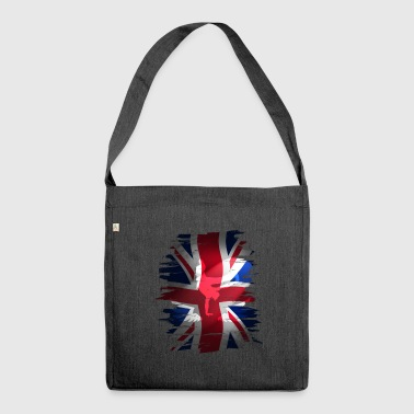 Union Jack britain flag Stunt England destroyed ro - Schultertasche aus Recycling-Material