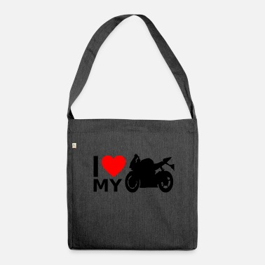 Superbike Motorcycle Superbike - Shoulder Bag made from recycled material