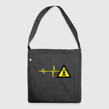 Gift heartbeat train driver - Shoulder Bag made from recycled material