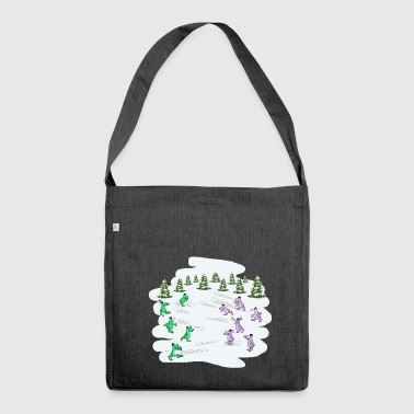 Snowball fightc - Shoulder Bag made from recycled material