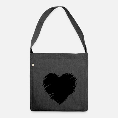 I Heart Heart - - Borsa in materiale riciclato