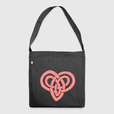 Celtic heart Valentine's Day Eternal bondage - Shoulder Bag made from recycled material