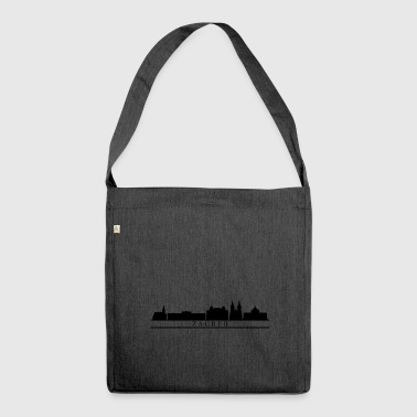 zagreb skyline - Shoulder Bag made from recycled material
