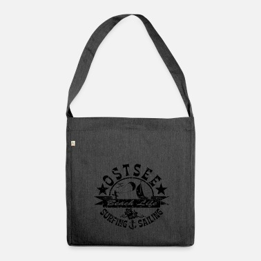 Ostsee Ostsee Beach Life Logo - Schultertasche aus Recycling-Material