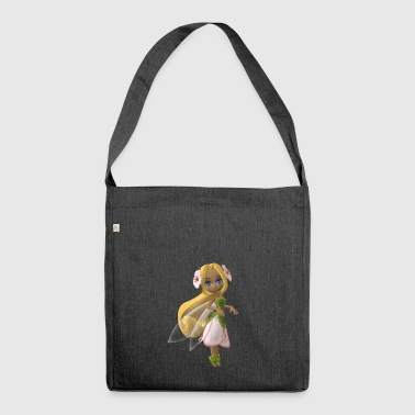 Elf fairy girl fable character - Shoulder Bag made from recycled material