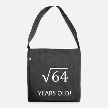 Old 8 years old math birthday gift idea young - Shoulder Bag made from recycled material