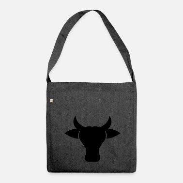 Cow Head Silhouette - Shoulder Bag made from recycled material