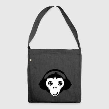 Monkey Headset - Shoulder Bag made from recycled material