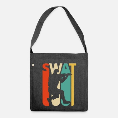 Swat Vintage Retro Swat Team.CO19. . Ufficiale Swat - Borsa in materiale riciclato
