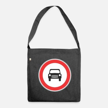 Road Sign Road sign small sign - Shoulder Bag made from recycled material