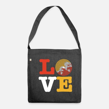 Bhutan Bhutan heart - Shoulder Bag made from recycled material