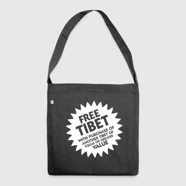 Free Tibet! - Shoulder Bag made from recycled material