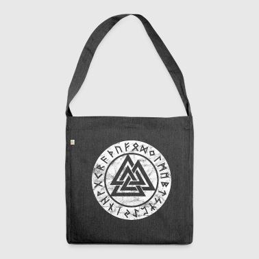 Valknut Viking's Odin Thor Vintage Symbol Sign - Shoulder Bag made from recycled material