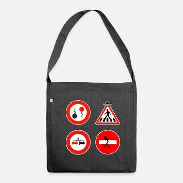 Road Sign Road signs - Shoulder Bag made from recycled material