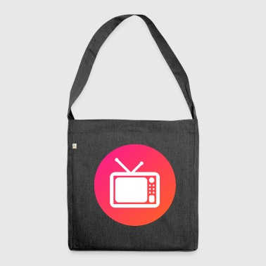 Television - Schultertasche aus Recycling-Material