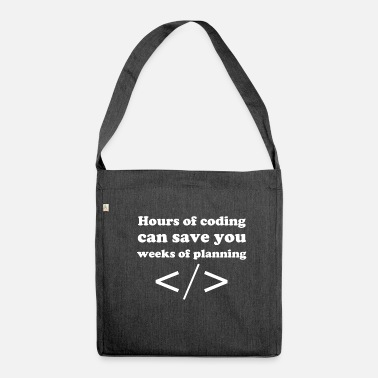 Coding Coding - Shoulder Bag made from recycled material