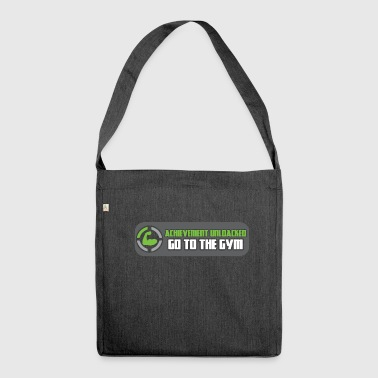 Gym Fitness Motivation Spruch Gains Lifting Sport - Schultertasche aus Recycling-Material