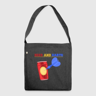 Beer and darts pub Sport Bullseye drink bar - Shoulder Bag made from recycled material