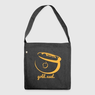 Goldesel - Schultertasche aus Recycling-Material