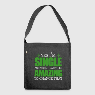 Single,Single,Single - Schultertasche aus Recycling-Material