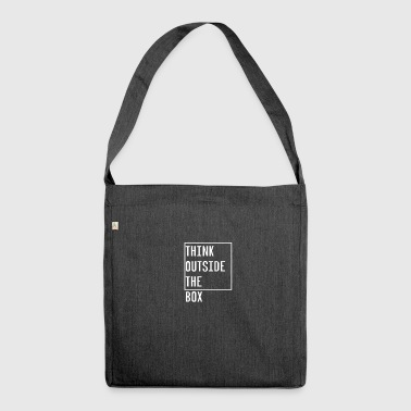 THINK OUTSIDE THE BOX DIFFERENT - Schultertasche aus Recycling-Material